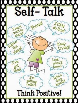 Poster clipart self talk