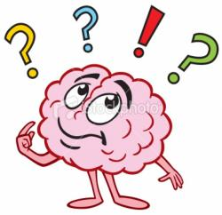 Brains clipart brain thinking
