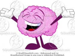 Brains clipart happy brain