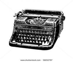 Typewriter clipart retro