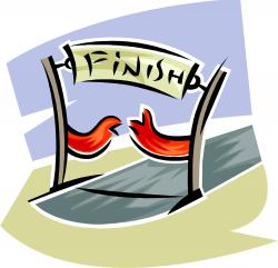 Winning clipart finish line