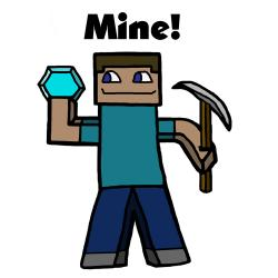 Drawn sleleton minecraft steve