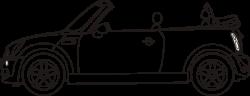 Miniature clipart convertible
