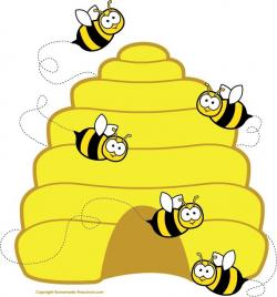 Honeycomb clipart beehive