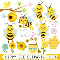 Mini clipart bee