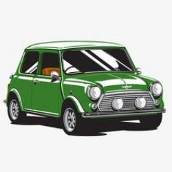 Miniature clipart green car