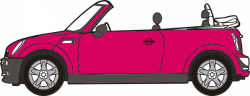 Mini clipart pink car