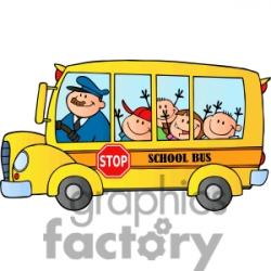 Moving clipart school bus