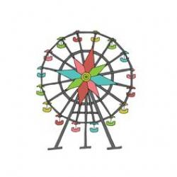 Ferris Wheel clipart made recycled material