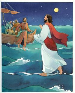 Prophecy clipart jesus walk on water
