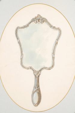 Drawn mirror hand mirror