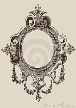 Drawn mirror old fashioned