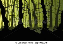 Mist clipart creepy forest