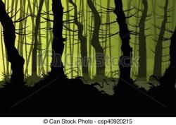 Mist clipart creepy forest