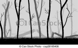 Mist clipart forest tree