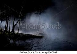 Mist clipart spooky forest