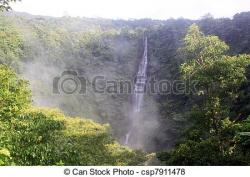 Mist clipart waterfall