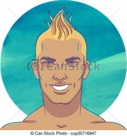 Mohawk clipart man hairstyle
