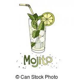 Drawn cocktail mojito