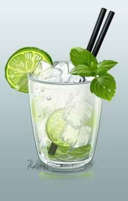 Mojito clipart lemon tea