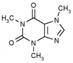 Molecule clipart caffeine
