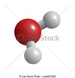 Molecule clipart h2o