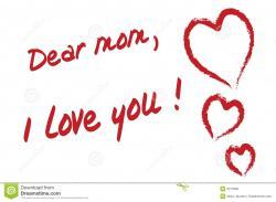 Dear clipart i love you