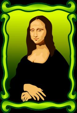 Mona Lisa clipart cartoon