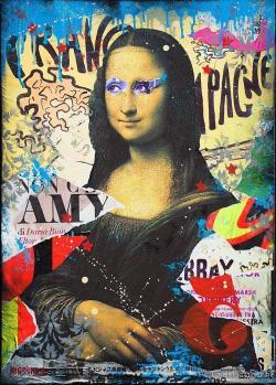 Mona Lisa clipart graffiti