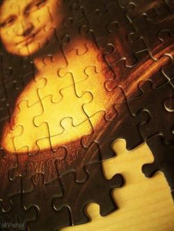 Mona Lisa clipart puzzle