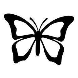 Papillon clipart black and white
