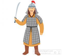Costume clipart mongolian