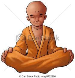Monk clipart buddhist meditation