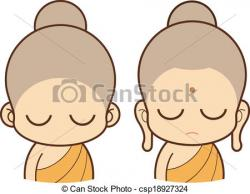Monk clipart cartoon