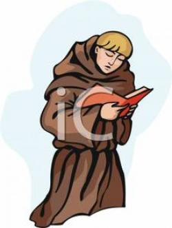 Monk clipart catholic monk
