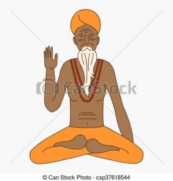 Monk clipart indian monk