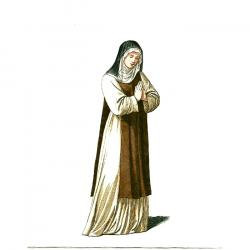 Monk clipart nun middle age