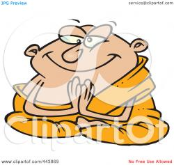 Monk clipart pleasant