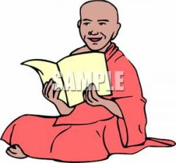 Monk clipart reading