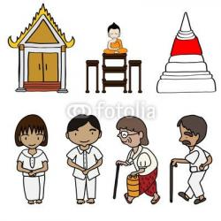 Monk clipart thai culture