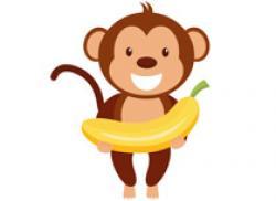 Banana clipart chimpanzee