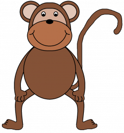 Baboon clipart happy monkey