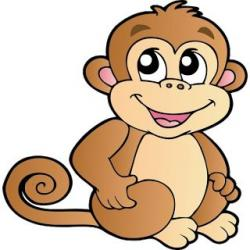 Baboon clipart baby