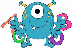 Letter clipart monster