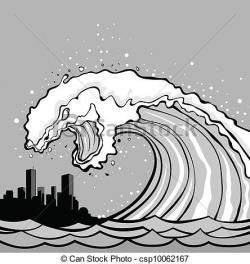 Tsunami clipart vector