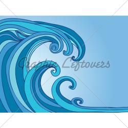Tsunami clipart tidal wave