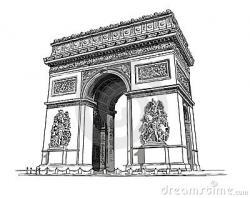 Monument clipart arc de triomphe