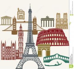 Landmark clipart europe landmark