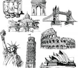 Sketch clipart landmark