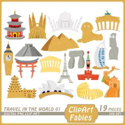 Travel clipart landmark